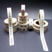 Garment Size Labels
