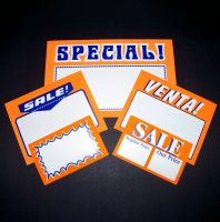 Price Cards & Counter - Top Signs