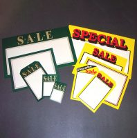 Display Sign Cards