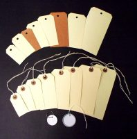 Shipping Tags, Metal Rim Tags